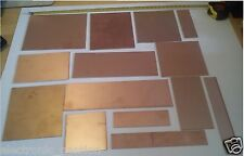 Aprox 14 pcs  Copper Clad FR4 Laminate Single double 350 grams of PCB Board !