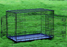 "Extra Large Extra Tall 48"" Two Door Dog Crate Cat Cage Kennel 35""H Greyhound"