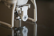 DJI Phantom 3 - STARWARS Empire Logo - 1 WHITE Gimbal Lock & Lens Cap 3d printed