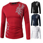 Men Stylish Slim Fit Long Sleeve Crew Neck Muscle Tee Shirt Casual T-Shirt Tops