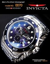 NWT $595 INVICTA MEN'S PRO DRIVER COLLECTION CHRONOGRAPH WATCH 0070