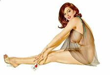 Pinup Girl retro shaped vinyl sticker decal 40s 50s Rockabilly 150mmx103mm sexy