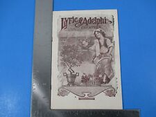 1925 Lyric & Adelphi Theatres Program Peg O' My Heart Dancing Around PA S3362