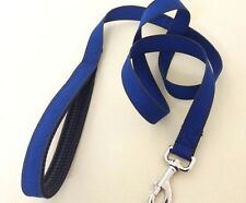 1.5m LONG DOG LEAD BLUE WITH GREY EDGE DETAIL & PADDED HANDLE HIGH QUALITY;;