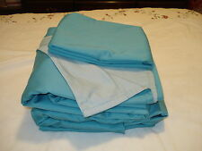 Queen sheet set  Home Reflections Easy Care Reversible seaglass color 600 TC