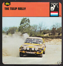 TULIP RALLY Netherlands Car Race Circuit HISTORY CARD