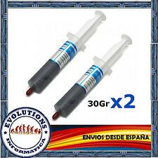 2x PASTA TERMICA SILICONA 30GR GRAMOS CALIDAD PARA PROCESADOR ORDENADOR XBOX PS3