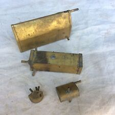 4 Brass Fuel Tank Lot Model Airplane Hydroplane Boat Tether Race Car Vintage