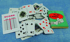 1:12 Dolls House Miniature Playing Cards Game Book Office Nursery Pub Accessory