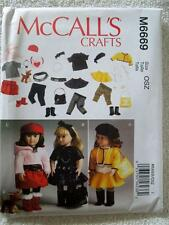 "McCALL'S PATTERN M6669 FOR AMERICAN GIRL OR ANY 18""DOLL"