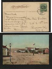 Mexico   color post card  Tijuana  1909  to  US           KEL0730