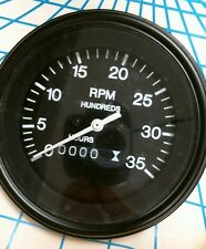 Teleflex 83673P 3500 RPM Mechanical Tachometer with Hourmeter Made in USA