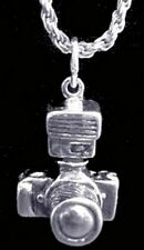 LOOK Flash 3D Camera charm sterling silver photography lens