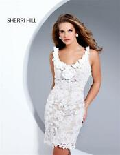 Sherri Hill style 2264 White size 8-Prom-Home Coming-Wedding