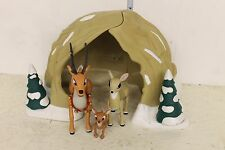 Rudolph the Red Nose Reindeer Family Cave Set LOOSE