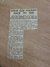 m1-5 ephemera 1949 Football Report Spion Kop Villa 3 Mann And Crossman 2