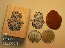 P63 Hand of hamsa rubber stamp Cling Mounted.