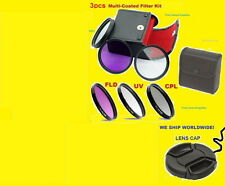 FILTER KIT UV CPL FLD+LENS CAP TO CAMERA NIKON P900 P 900 Polarizing Fluorescent