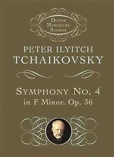 Symphony No. 4 in F Minor: Opus 36 (Dover Miniature Music Scores) by Tchaikovsk