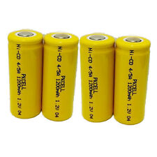 4PC 4/5A 1200mAh 1.2V NICD Rechargeable Battery Flat Top PKCELL Free Shipping CA