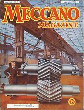 Meccano Magazine Novembre 1935  n°11 - Automotrice Bugatti -Le Bourget Aeroporto