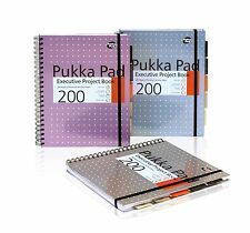 Pukka Pad Metallic Executive Project Book A4 Silver / Pink / Blue  Pack of 3