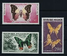 Malagasy 1960 complete air mail Butterfly set  Michel #458-460 MNH OG