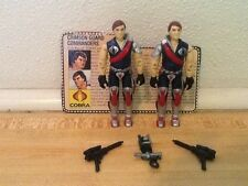 Vintage 1985 GI Joe Cobra Crimson Guard Commanders Twins 100% complete file card