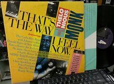 THELONIOUS MONK That's The Way I Feel Now gatefold 2 LP w/JOHN ZORN Steve Khan +