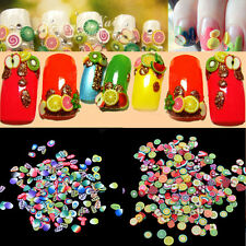 1000Pcs/Pack 3D Fruit Feather Nail Art Patch Fimo DIY Armour Wrap Makeups Tools