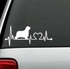 K1105 Bearded Collie Heartbeat© Dog Decal Sticker for Car Truck SUV Van LAPTOP