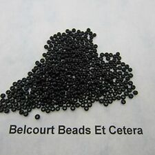 25 Grams Black Opaque Size 10/0 Czech Glass Preciosa Seed Beads