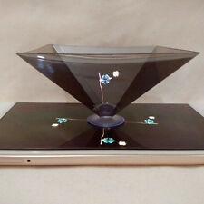 3D Holographic Display Pyramid Stand Projector for 3.5''~6.5'' Smart Cellphone