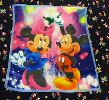 NEW ~MICKEY MINNIE LOVE DATING PINK Microfiber Handkerchief / Small Towel