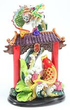Feng Shui Dragon Gate Waterfall for Courage Achievement Success & Perseverance