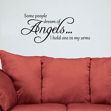 Some People Dream of Angels... Wall Decal Vinyl Sticker Home Decor Quote Decals