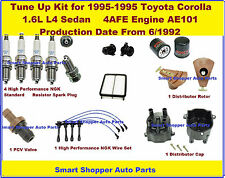 Tune Up 93-95 Corolla 1.6L 4AFE Spark Plug Wire, Dist. Cap Rotor Engine Filters