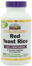 21st Century Red Yeast Rice Supplement 300ct Capsules