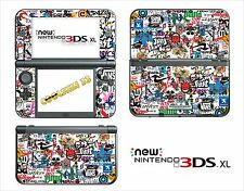 PELLE STICKER ADESIVO - NINTENDO NUOVO 3DS XL - RIF. 192 STICKER BOMBA
