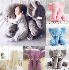 Long Nose Elephant Doll Pillow Soft Plush Stuff Toy Lumbar Pillow Baby Children^