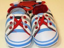 Quicksilver Infant Shoes Blue, Gray, and White Stripes Size 0-6 Months