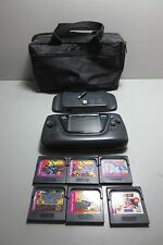 Sega Game Gear-Bundle-w/Power Back-(6) Games and Padded Carrying Case