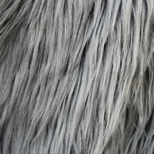 Grey Frost Luxury Faux Fur Fabric - Sold By The Yard