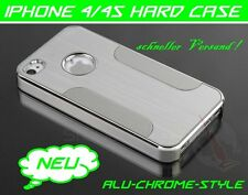 Apple iPhone 4 4S Carcasa Aluminio Funda Rígida Cromo Metal protectora