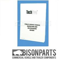 Tachpro PSV Public Service Vehicle Inspection & Maintenance Pad (Bus / Coach)