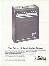 VINTAGE AD SHEET #2156 - 1970 GIBSON FALCON III AMPLIFIER