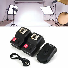 Wireless 4 Channels Practical Flash Trigger Transmitter With 2 Receivers Set#FX