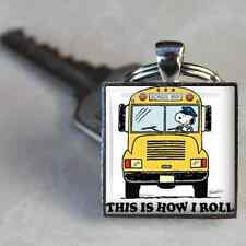SCHOOL BUS KEYCHAIN KEYRING DRIVER Thank You Gift SNOOPY This Is How I Roll