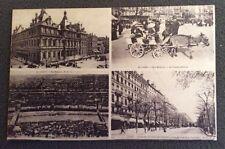 CPA. LYON. 69 - Quatre Vues. 1917. Voiture Enfantine. Attelage. Cours Gambetta.