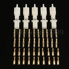 5pcs 2 Way 2.8mm Connector Terminal Kits For Car Motorcycle Motorbike Scooter